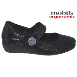 Mobils JESSY Noir cuir mary-jane