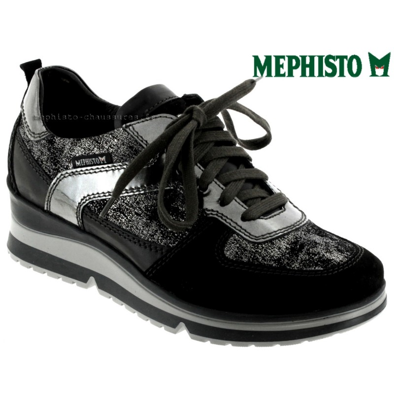 Mephisto Vicky Noir cuir - Chaussures Baskets basses Femme