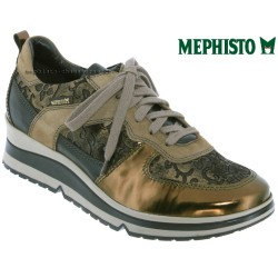Mephisto Chaussure Mephisto Vicky Mordoré cuir basket-mode