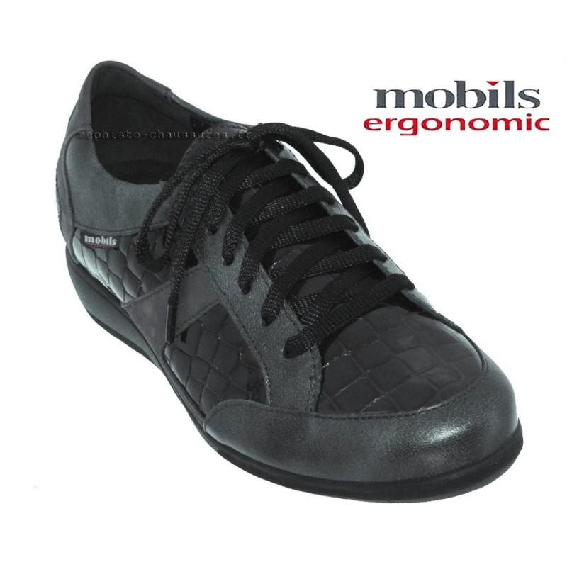 Mobils Josefina Gris cuir lacets