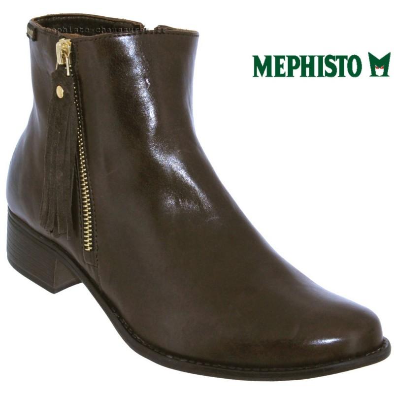 Mephisto Eugenie Marron cuir bottine