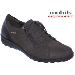 mephisto-chaussures.fr livre à Paris Lyon Marseille Mobils Camilia Marron nubuck lacets