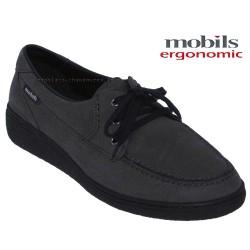 mephisto-chaussures.fr livre à Paris Mobils Nella Gris nubuck lacets