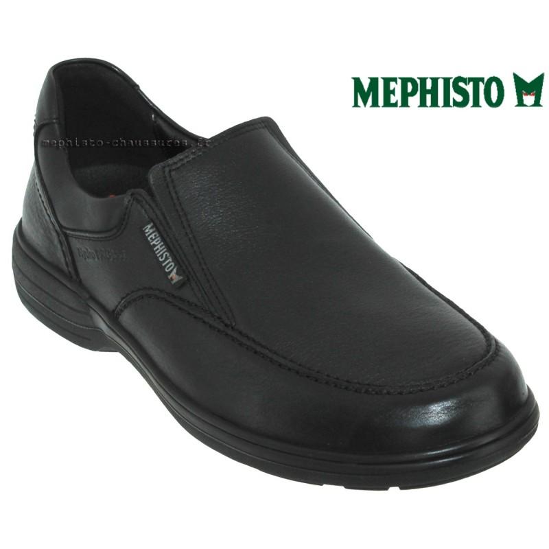 Mephisto Davy Noir cuir mocassin