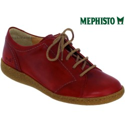 mephisto-chaussures.fr livre à Gravelines Mephisto Elody Rouge cuir lacets