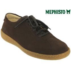 Mephisto Chaussure Mephisto Lenni Marron velours lacets