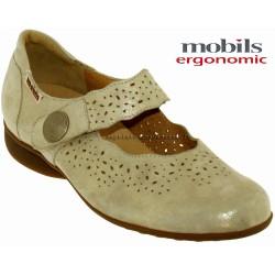mephisto-chaussures.fr livre à Saint-Sulpice Mobils FABIENNE Beige cuir mary-jane