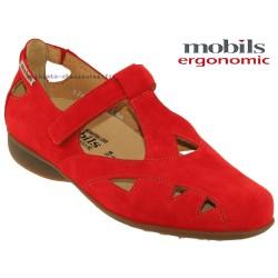 mephisto-chaussures.fr livre à Paris Mobils Fantine Rouge nubuck ballerine