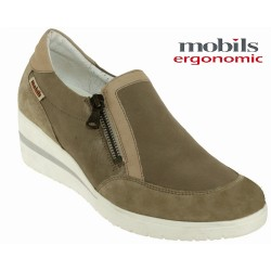 Marque Mephisto Mobils Pupina Taupe cuir mocassin