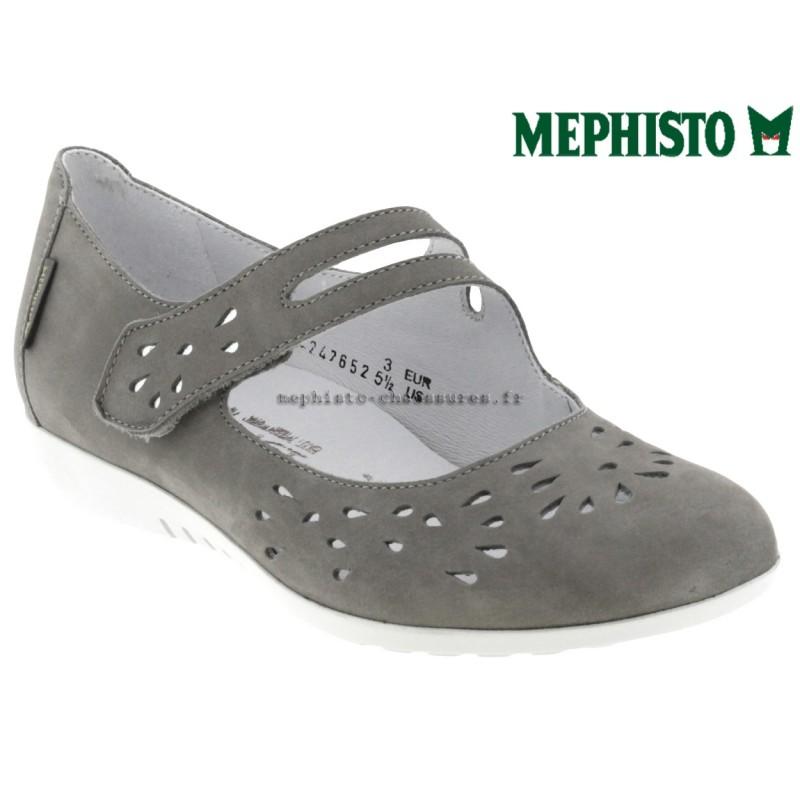 Mephisto Dora perf Gris clair cuir - Chaussures Ballerines Femme