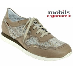 Mephisto Chaussure Mobils KADIA PERF Taupe cuir lacets