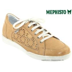mephisto-chaussures.fr livre à Gravelines Mephisto Daniele perf Beige cuir basket-mode
