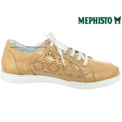 Mephisto Daniele perf Beige cuir basket-mode
