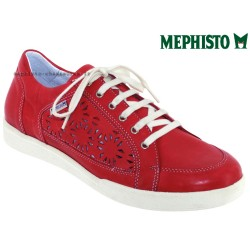 mephisto-chaussures.fr livre à Gravelines Mephisto Daniele perf Rouge cuir basket-mode