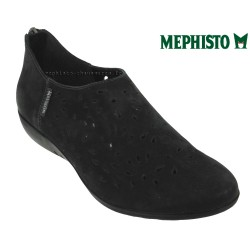 mephisto-chaussures.fr livre à Fonsorbes Mephisto Dina perf Noir nubuck ballerine
