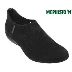 mephisto-chaussures.fr livre à Oissel Mephisto Dina perf Noir nubuck ballerine
