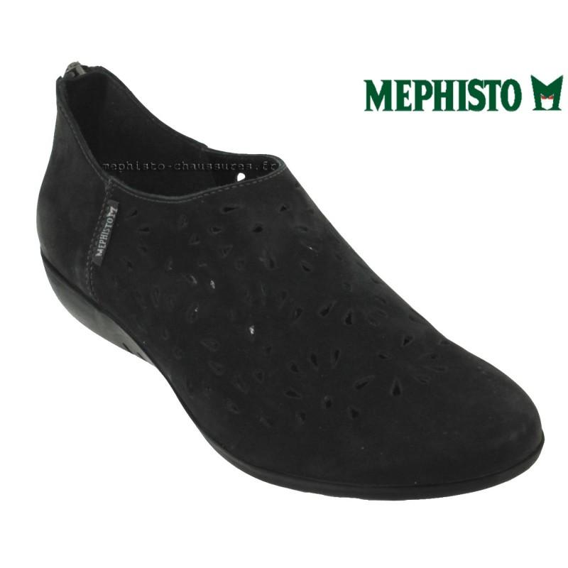 Mephisto Dina perf Noir nubuck ballerine