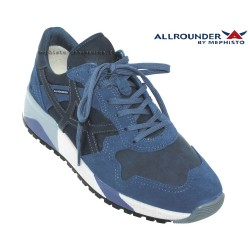 Mephisto Homme: Chez Mephisto pour homme exceptionnel Allrounder Speed Jeans/Marine cuir basket-mode