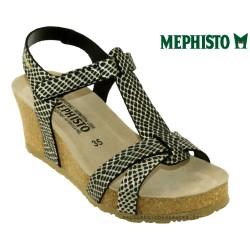 Sandale Méphisto Mephisto Liviane Noir/or cuir sandale