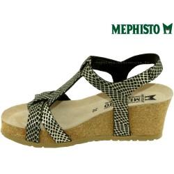 Mephisto Liviane Noir/or cuir sandale