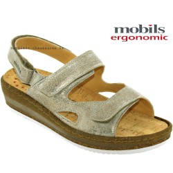 Mode mephisto Mobils Laura Beige cuir sandale