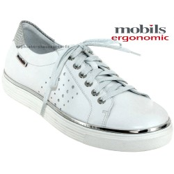 mephisto-chaussures.fr livre à Cahors Mobils Elisa Blanc cuir basket-mode