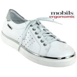 mephisto-chaussures.fr livre à Paris Mobils Elisa Blanc cuir basket-mode