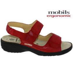 Mobils GETHA Rouge cuir sandale
