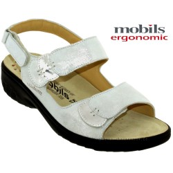Mode mephisto Mobils GETHA Gris clair cuir sandale