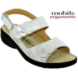 mephisto-chaussures.fr livre à Paris Mobils GETHA Gris clair cuir sandale