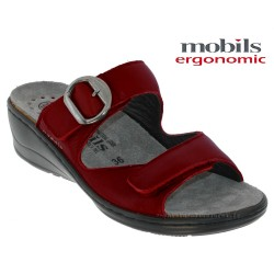 Mephisto Chaussure Mobils JULIA Rouge cuir mule