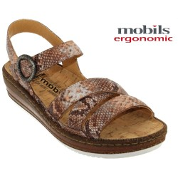Mode mephisto Mobils Lucie Beige Rosé cuir nu-pied