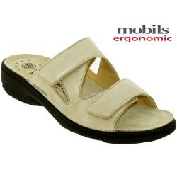 mephisto-chaussures.fr livre à Oissel Mobils Geva Beige cuir mule