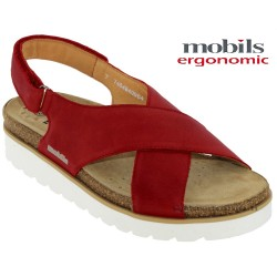 Mode mephisto Mobils Tally Rouge cuir sandale