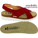 Mobils Tally Rouge cuir sandale