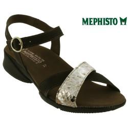 mephisto-chaussures.fr livre à Paris Mephisto Fara Taupe Velours sandale