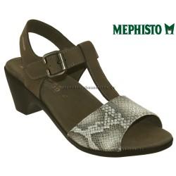 mephisto-chaussures.fr livre à Paris Lyon Marseille Mephisto Carine Taupe nubuck sandale