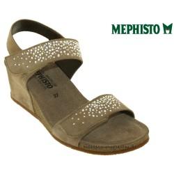 mephisto-chaussures.fr livre à Nîmes Mephisto Maria spark Beige velours sandale