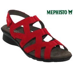 mephisto-chaussures.fr livre à Guebwiller Mephisto Pamela Rouge nubuck sandale