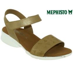 mephisto-chaussures.fr livre à Paris Lyon Marseille Mephisto Fabie doré cuir nu-pied