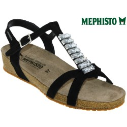 mephisto-chaussures.fr livre à Besançon Mephisto Ibella Noir velours sandale