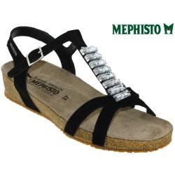 mephisto-chaussures.fr livre à Montpellier Mephisto Ibella Noir velours sandale
