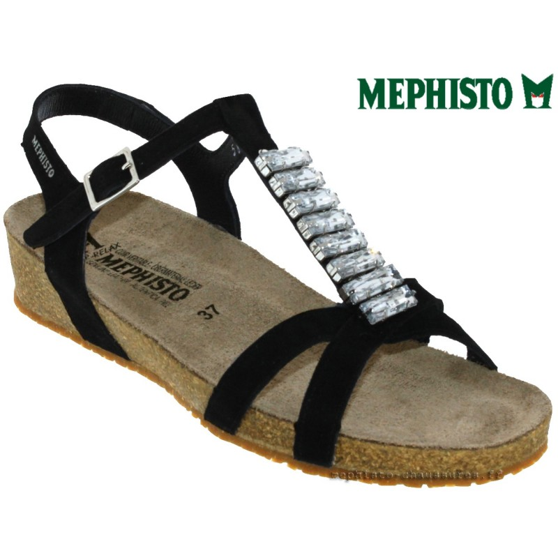 Mephisto Ibella Noir velours sandale