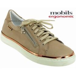 mephisto-chaussures.fr livre à Paris Mobils Elorine Beige cuir lacets