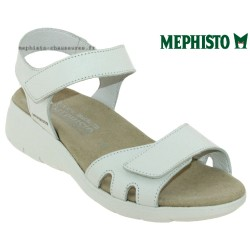 mephisto-chaussures.fr livre à Andernos-les-Bains Mephisto Kitty Blanc cuir sandale
