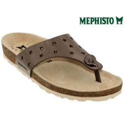 mephisto-chaussures.fr livre à Changé Mephisto Nickie star Taupe cuir tong