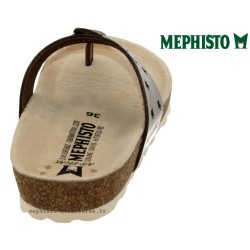 Mephisto Nickie star Taupe cuir tong
