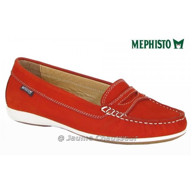 MEPHISTO Femme Mocassin AXENA Orange nubuck 4893