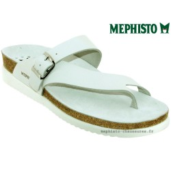 Mule femme Mephisto Mephisto HELEN Blanc cuir tong