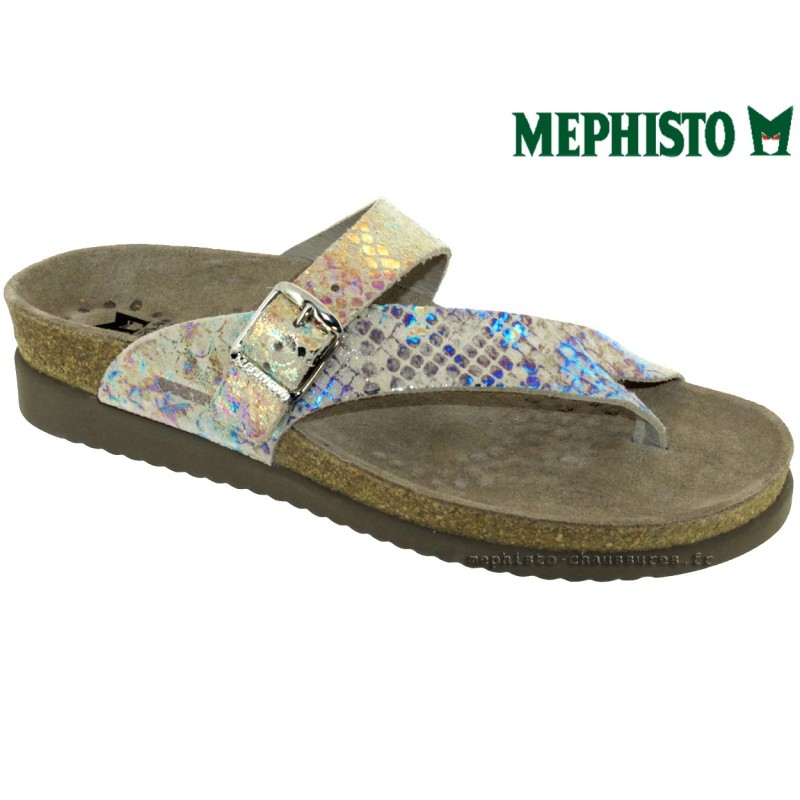 Mephisto HELEN Taupe Multi - Chaussures Tongs Femme